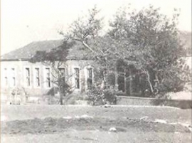 The old building that housed the first elementary school of Farsala